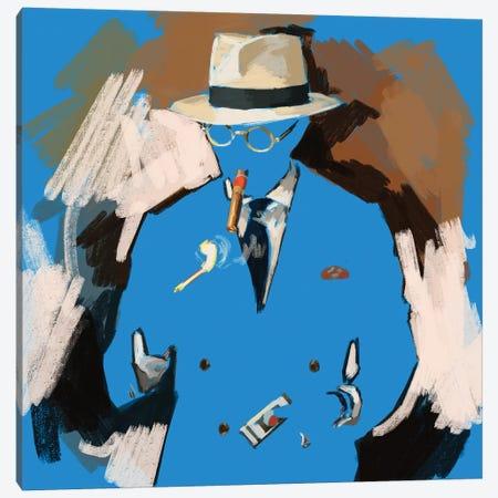 Lighting Up In Blue Canvas Print #SFM104} by Sunflowerman Canvas Art Print