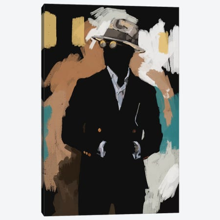 New Suit In Black Canvas Print #SFM107} by Sunflowerman Canvas Print