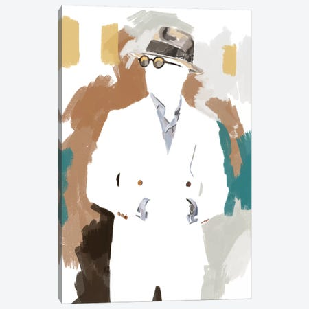 New Suit In White Canvas Print #SFM109} by Sunflowerman Canvas Artwork