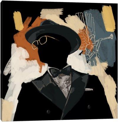 Operatic Black Canvas Art Print