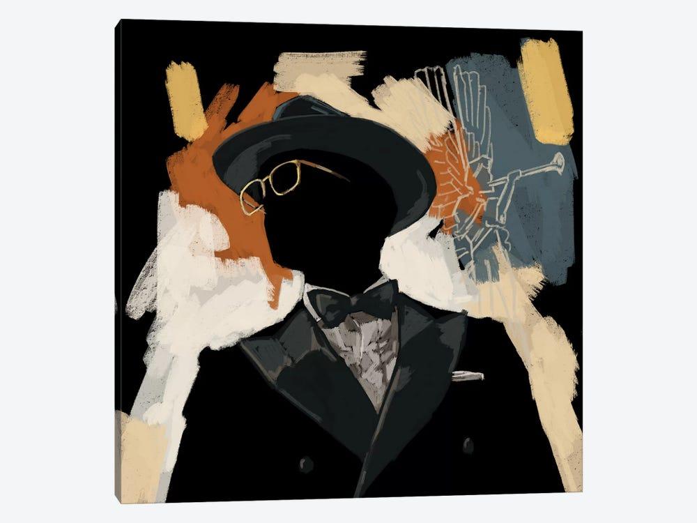 Operatic Black by Sunflowerman 1-piece Canvas Art