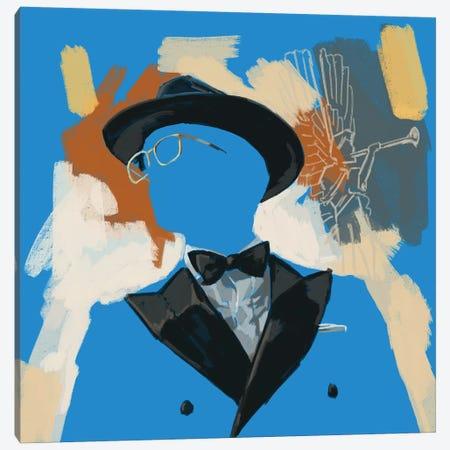 Operatic Blue Canvas Print #SFM111} by Sunflowerman Canvas Art Print