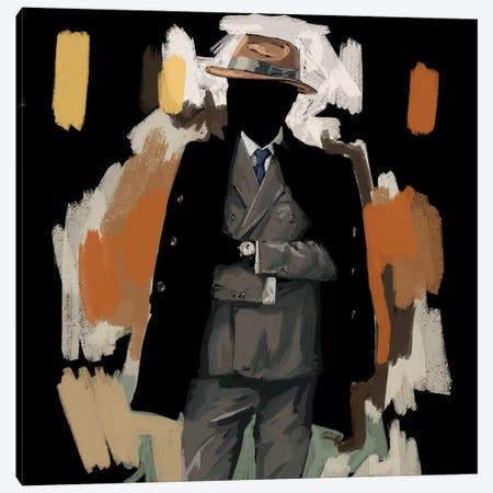 The Overcoat In Black Canvas Print #SFM112} by Sunflowerman Canvas Art Print