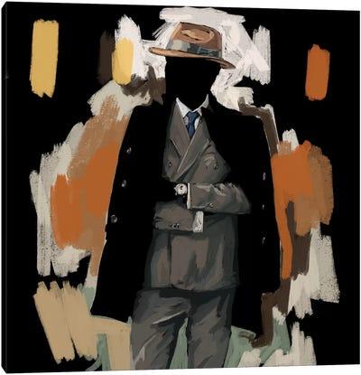 The Overcoat In Black Canvas Art Print