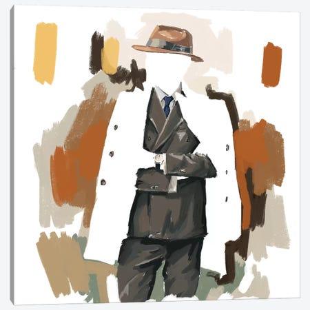 The Overcoat In White Canvas Print #SFM114} by Sunflowerman Canvas Art