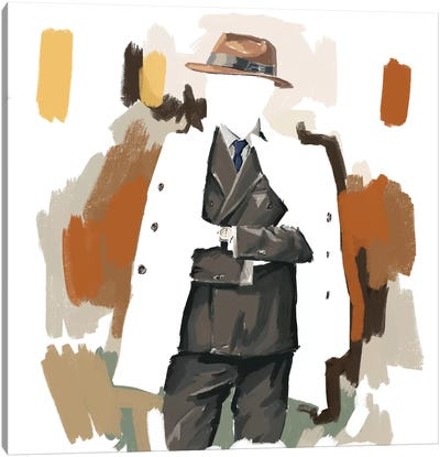 The Overcoat In White Canvas Art Print