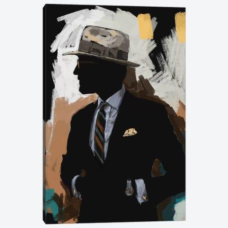 Vintage Menswear In Black Canvas Print #SFM115} by Sunflowerman Canvas Wall Art