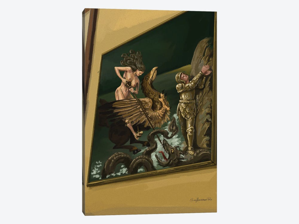 Flipping The Patriarchy by Sunflowerman 1-piece Canvas Art Print