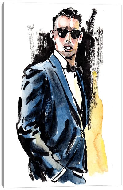 Man of Style Canvas Art Print