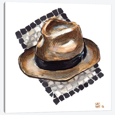 Borsalino Canvas Print #SFM24} by Sunflowerman Canvas Art Print