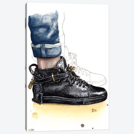Buscemi Sneaker Canvas Print #SFM28} by Sunflowerman Canvas Art