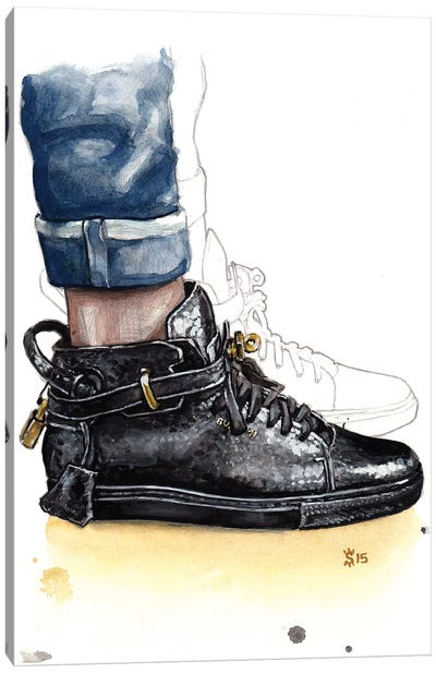 Buscemi Sneaker Canvas Art Print