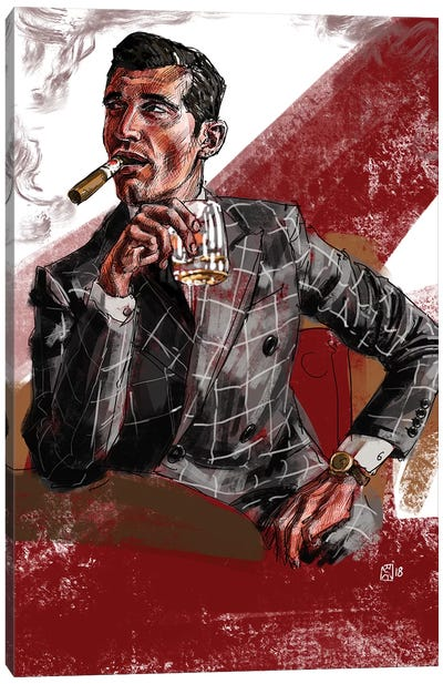 Cigar & Whiskey Canvas Art Print