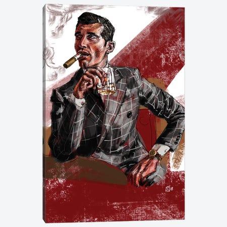 Cigar & Whiskey Canvas Print #SFM29} by Sunflowerman Canvas Wall Art