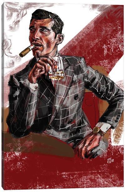 Cigar & Whiskey Canvas Art Print