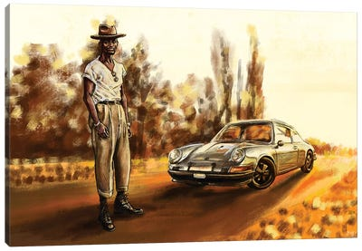 Air-Cooled Porsche 911T Canvas Art Print
