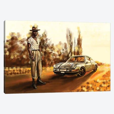 Air-Cooled Porsche 911T Canvas Print #SFM2} by Sunflowerman Canvas Print