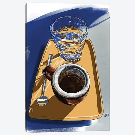 Coffee Folk Canvas Print #SFM30} by Sunflowerman Canvas Art Print
