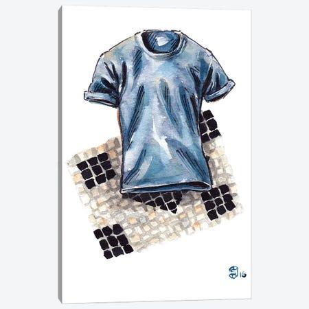 Cucinelli Shirt Canvas Print #SFM33} by Sunflowerman Canvas Print