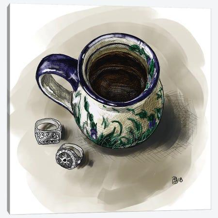 Coffee Canvas Print #SFM38} by Sunflowerman Art Print