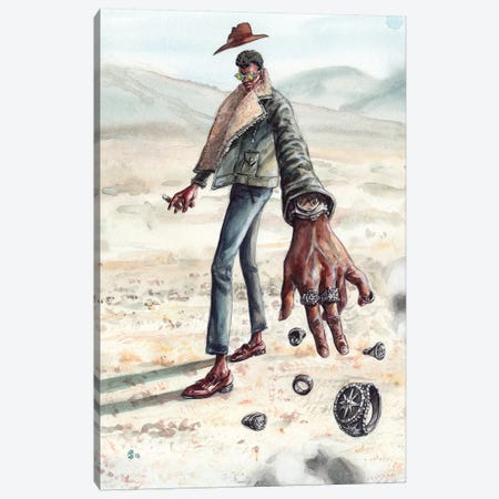 Desert Man Of Many Rings Canvas Print #SFM3} by Sunflowerman Art Print