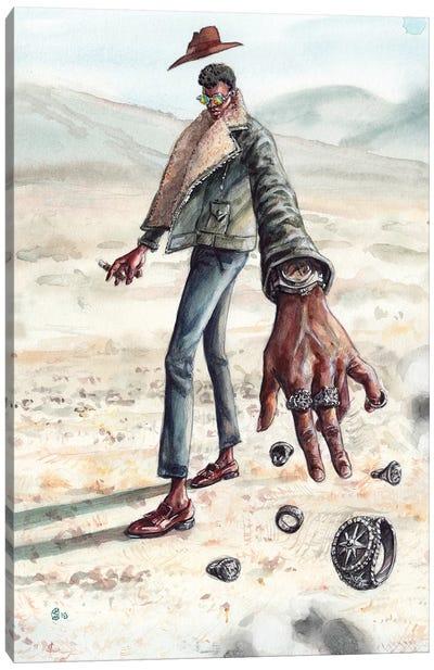 Desert Man Of Many Rings Canvas Art Print