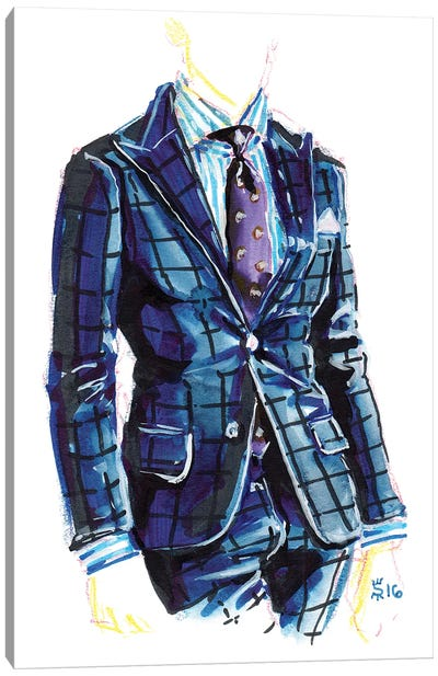 Men's Style II Canvas Art Print
