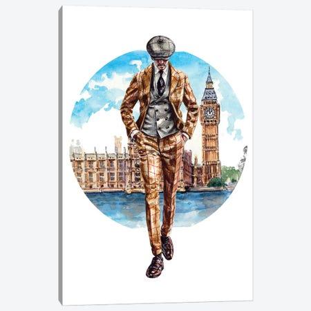 The London Man Canvas Print #SFM48} by Sunflowerman Canvas Art