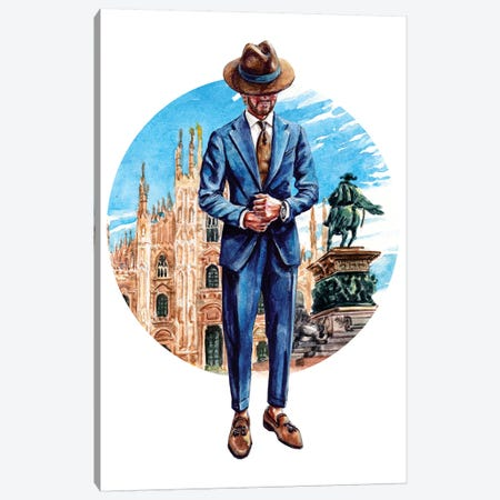 The Milano Man Canvas Print #SFM49} by Sunflowerman Canvas Artwork