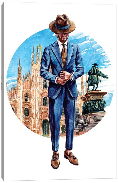 The Milano Man Canvas Art Print