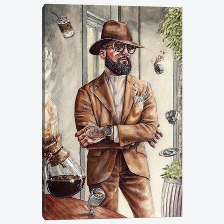 Coffee King Canvas Print #SFM4} by Sunflowerman Canvas Wall Art