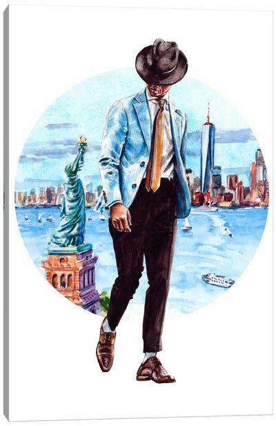 The New York Man Canvas Art Print