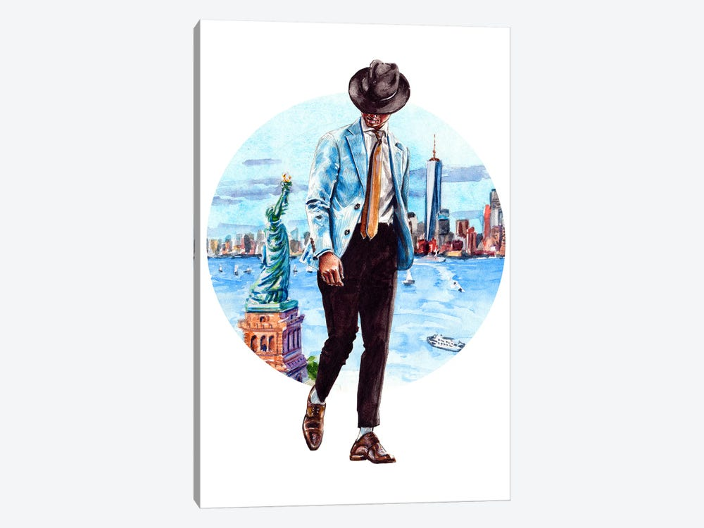 The New York Man by Sunflowerman 1-piece Canvas Artwork