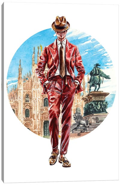 The Florentine Man Canvas Art Print
