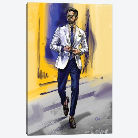 Men's Style IV Canvas Print #SFM53} by Sunflowerman Canvas Art Print