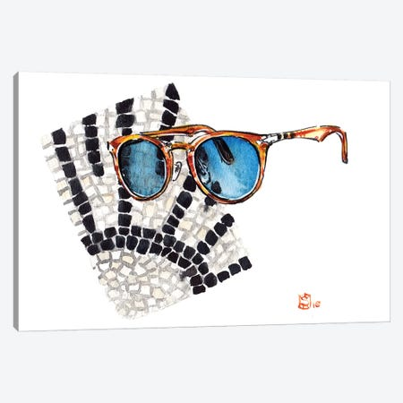 Persol Canvas Print #SFM59} by Sunflowerman Canvas Print