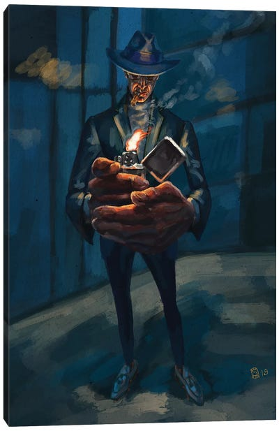 An Evening Cigar Canvas Art Print
