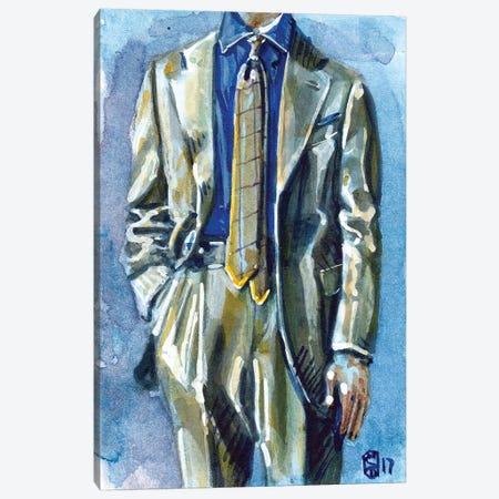 Pitti Uomo Style I Canvas Print #SFM60} by Sunflowerman Canvas Artwork