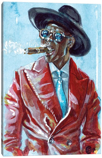 A Man and His Cigar Canvas Art Print