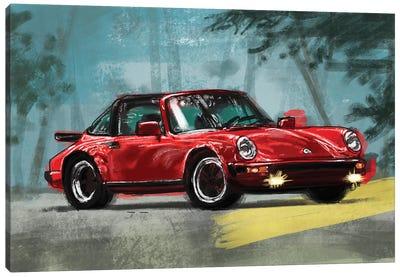 Porsche Air Cooled Red Canvas Art Print