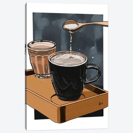 Cream And Sugar Canvas Print #SFM70} by Sunflowerman Art Print