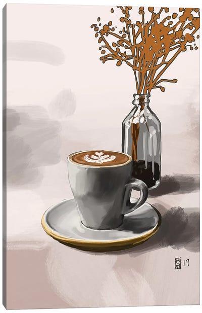 Latte And Shrub Canvas Art Print