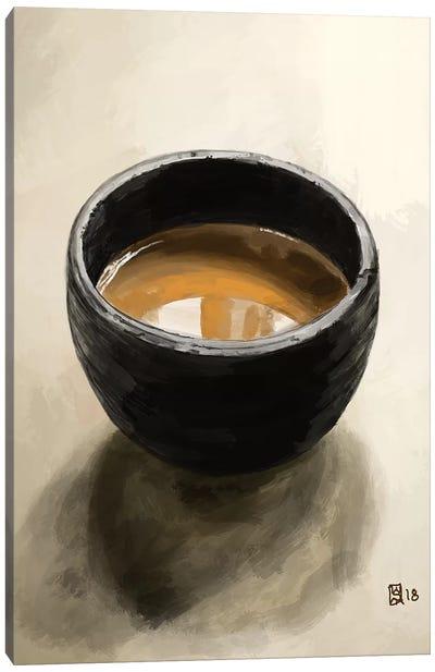 Elegant Espresso Canvas Art Print