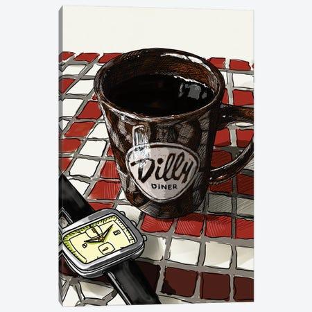 Diner Coffee Canvas Print #SFM73} by Sunflowerman Canvas Art Print