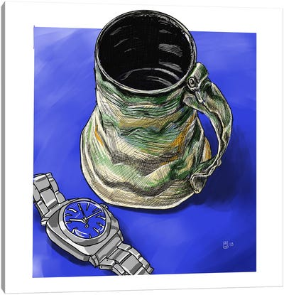Watches And Coffee II Canvas Art Print