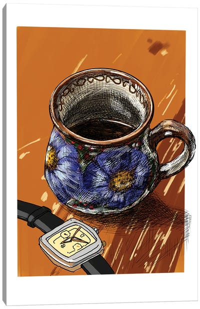 Watches And Coffee I Canvas Art Print