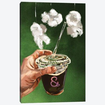 Coffee To Go Canvas Print #SFM88} by Sunflowerman Canvas Wall Art
