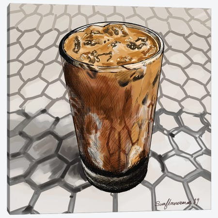 Colt 26 Espresso Canvas Print #SFM93} by Sunflowerman Art Print