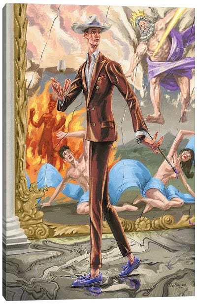 Absurdity Of The Gods. In Copper. Canvas Art Print
