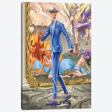 Absurdity Of The Gods. In Spray Paint. Canvas Print #SFM98} by Sunflowerman Canvas Print